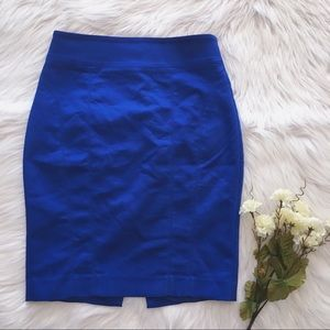 Express | High Waisted Blue Pencil Skirt Sz 2 EUC